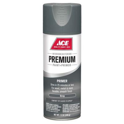 Ace Premium Gray Smooth Enamel Primer Spray Paint 12 oz.
