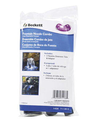 Beckett Plastic Combo Waterbell and Trumpet Nozzle 5/8 in. W