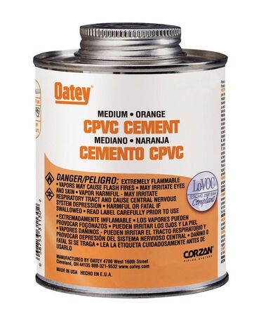Oatey Orange CPVC Cement 8 oz.