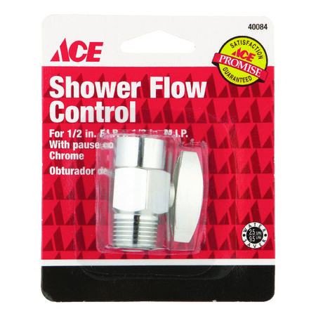 Ace Chrome Shower Flow Control