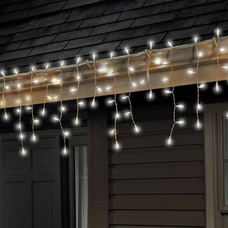Celebrations Traditional LED Mini Light Set Cool White 6 ft. 100 lights
