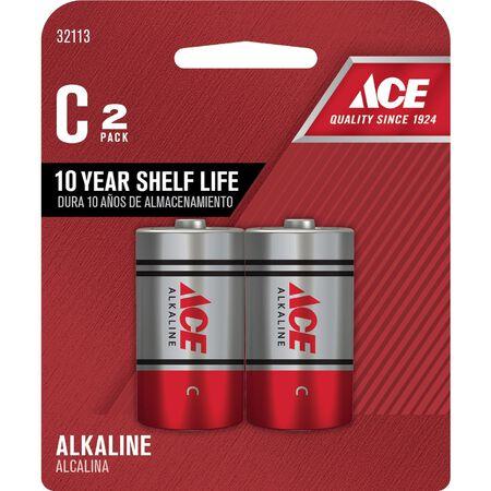 Ace C Alkaline Batteries 1.5 volts 2 pk