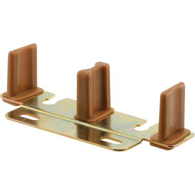 Prime-Line Floor mount By-Pass Guide Brass/Brown 1 pk