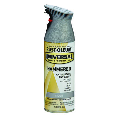 Rust-Oleum Universal Paint & Primer in One Silver Hammered Hammered Spray 12 oz.