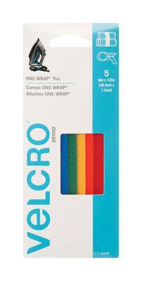 Velcro 8 in. L x 1/2 in. W Strap 5 pk