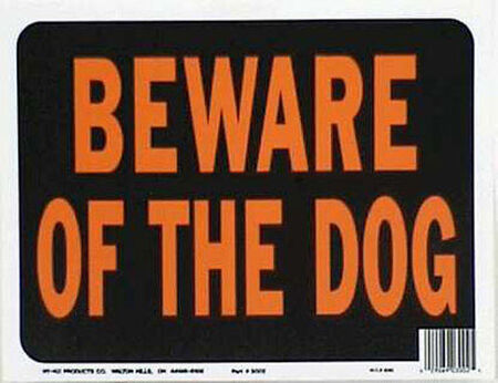 Hy-Ko English 9 in. H x 12 in. W Plastic Sign Beware of Dog