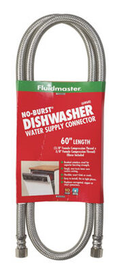 Fluidmaster 3/8 in. Compression x 3/8 in. Dia. Compression Stainless Steel 60 in. Supply Line