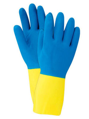 Soft Scrub Latex Cleaning Gloves Small 2 pc. Blue
