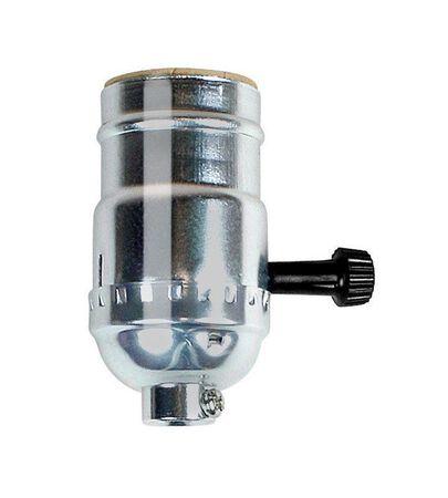Jandorf 3-Way Turn Knob Socket 250 volts Nickel 250 watts
