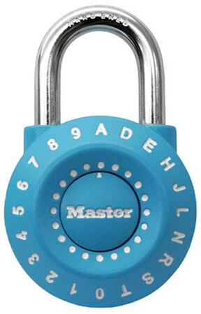 Master Lock 1-15/16 in. Anti-Shim Technology Steel Combination Padlock