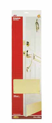 Ace 30 in. L x 8 in. W Brass Door Kickplate 1 pk