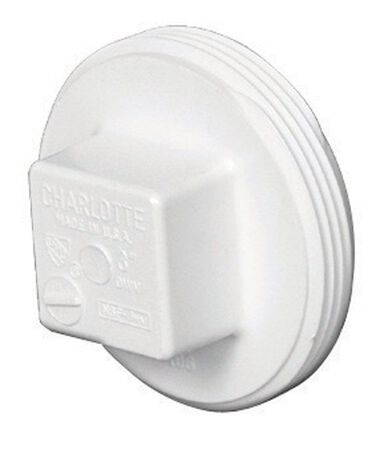 Charlotte Pipe 4 in. Dia. Schedule 40 MPT PVC Clean-Out Plug