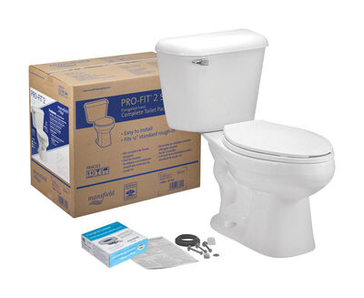 Mansfield Elongated Complete Toilet 1.28 White
