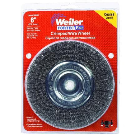 Weiler Vortec Pro 6 in. Crimped Wire Wheel Brush Carbon Steel 6000 rpm 1 pc.