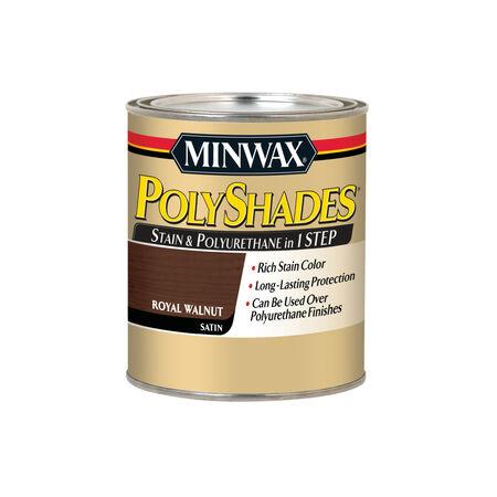Minwax PolyShades Semi-Transparent Satin Royal Walnut Oil-Based Stain 1 qt.