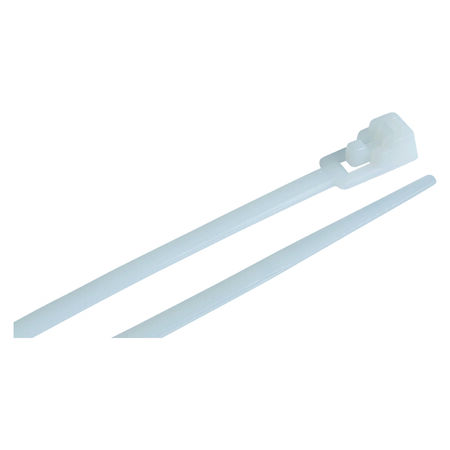 Gardner Bender Releasable 8 in. L White Cable Tie 25 pk