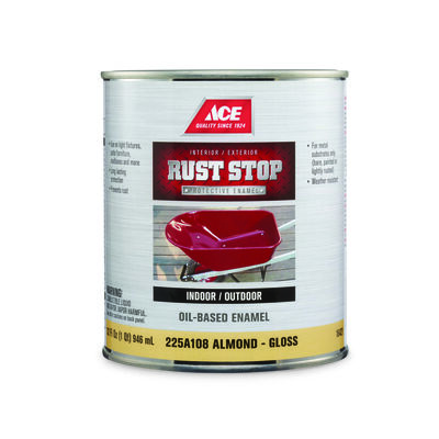 Ace Interior/Exterior Rust Stop Oil-based Enamel Paint Almond Gloss 1 qt.