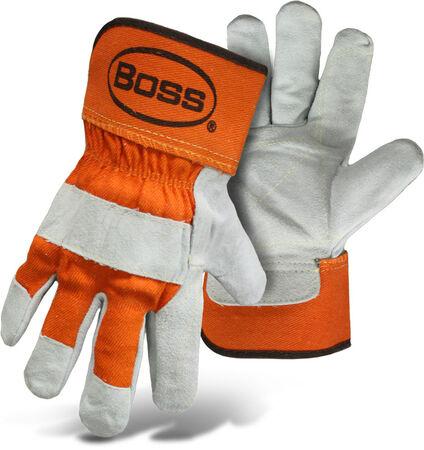 Glove Leather Split Dbl Palm L
