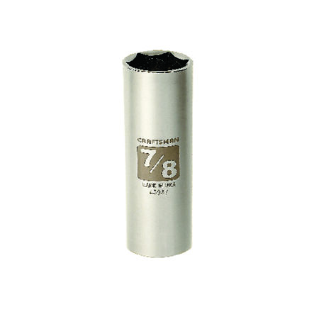 Craftsman 7/8 in. x 1/2 in. drive SAE 6 Point Deep Socket 1 pc.
