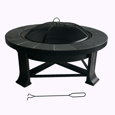 Round Slate Fire Pit Table