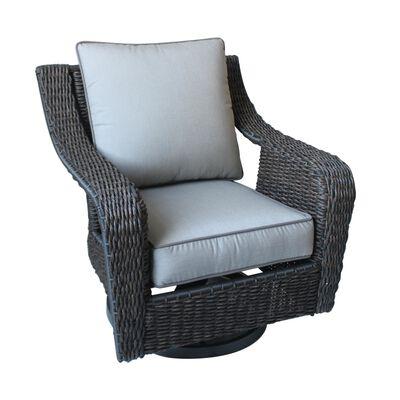 Living Accents Brown Plastic Wicker Belvedere Swivel Chair