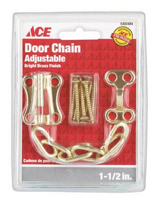 Ace 1.5 in. L Bright Brass Chain Door Guard