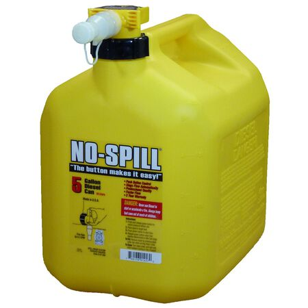 No Spill Plastic Diesel Can 5 gal.