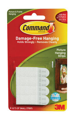 3M Command Small Picture Hanging Foam Adhesive Strips 8 pk 1 lb. per Set 2-1/8 in. L