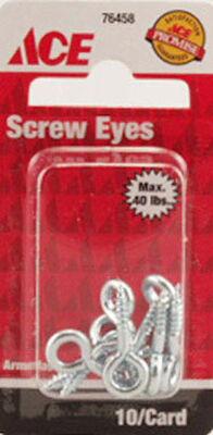 Ace 1/8 1 in. L Zinc-Plated Steel Screw Eye 10 pk