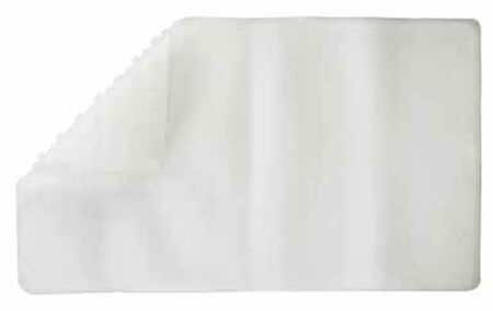 Living Accents 28 in. L x 16 in. W Clear Thermo Plastic Elastomer Bath Mat Latex Free