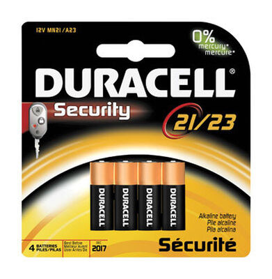 Duracell Alkaline 12 volts Security Battery 21/A23
