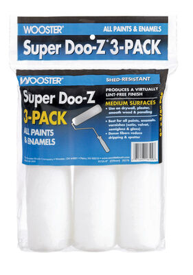 Wooster Super Doo-Z Fabric Paint Roller Cover 3/8 in. L x 9 in. W 3 pk