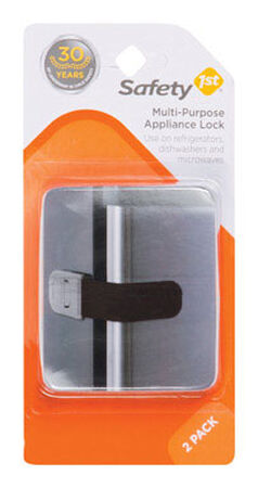 Safety 1st Black Plastic Appliance Latch 2 pk