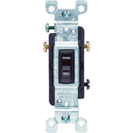 Leviton 15 amps Toggle 3-Way Switch Single Pole