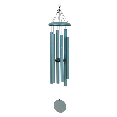 "Corinthian Bells, 44"" Patina Green Windchime"