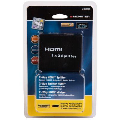 Monster HDMI 2 Way Splitter 1 Black