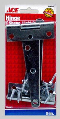 Ace Steel Light Duty T Hinge 5 in. L Zinc 2 pk