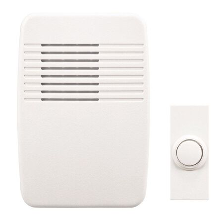Heath Zenith White Wireless Door Chime Kit