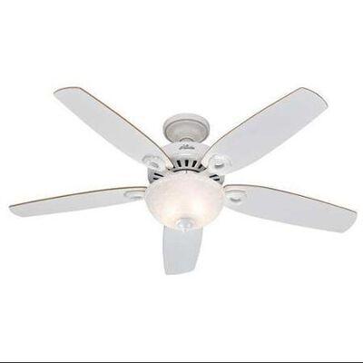 Hunter Fan Builder Deluxe Ceiling Fan 52 in. W White