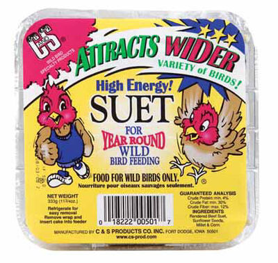 C&S Products High Energy Assorted Species Suet Beef Suet 11.75 oz.