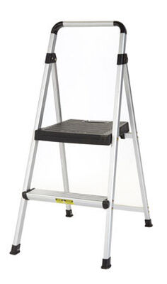 Cosco Lite Solutions 225 lb. Aluminum Folding Two Step Stool