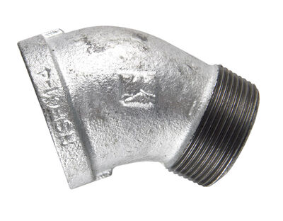 B & K 3/4 in. Dia. x 3/4 in. Dia. FPT To MPT 45 deg. Galvanized Malleable Iron Street Elbow