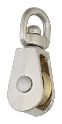 Campbell Chain Single Sheave Swivel Eye Pulley 3/4 in. Swivel 25 lb. Copper