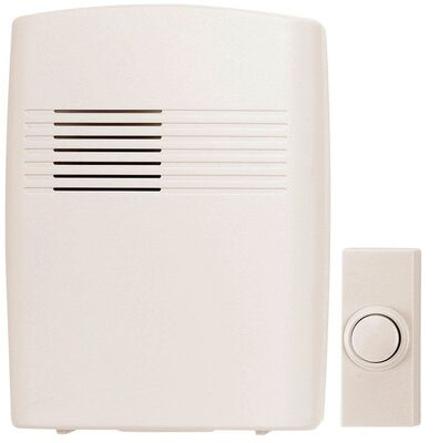 Heath Zenith Off-White Wireless Door Chime Kit
