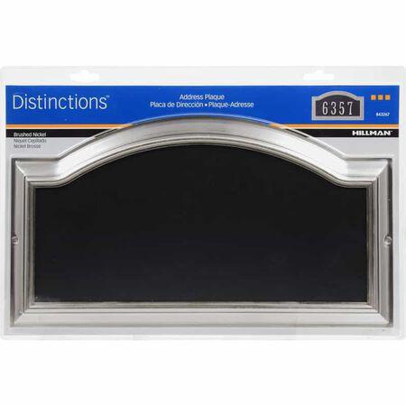 Hillman Distinctions Brushed Nickel Plastic Rectangle Address Plate