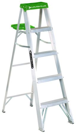 5 ft Louisville AS4005 Aluminum Step Ladder, Type II, 225 lb Load Capacity