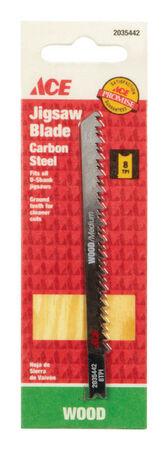 Ace Carbon Steel U-Shank 4-1/8 in. L Jig Saw Blade 8 TPI