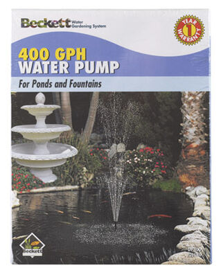 Beckett Plastic Pond and Fountain Pump 5/8 in. W x 9-5/16 in. L 400 gph