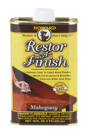 Howard Restor-A-Finish Semi-Transparent Oil-Based Wood Restorer Mahogany 1 pt.