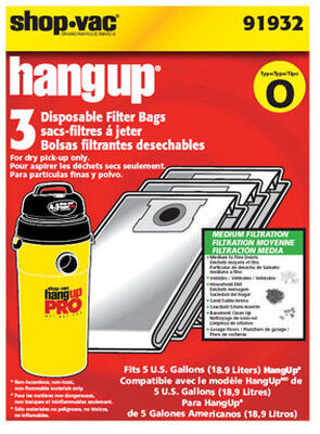 Shop-Vac HangUp Vac Bag 5 3 pk
